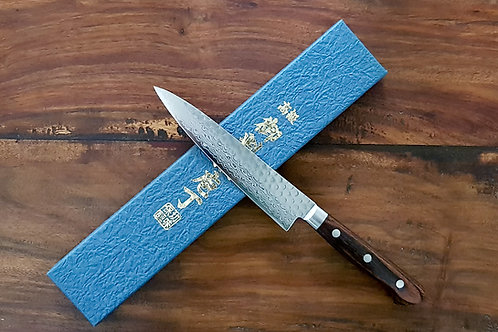 VG10 STEEL PETTY - HAMMERED DAMASCUS BLADE