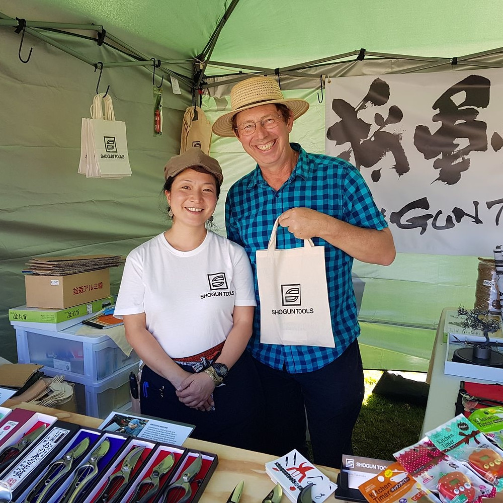 Shogun Tools with Jerry Coleby-Williams at QLD Garden Expo 2018