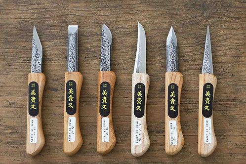 A SET OF CARVING KNIVES - HANDMADE
