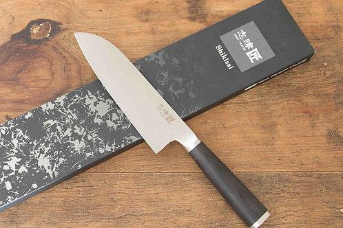 SHIKISAI MIYAKO - SANTOKU 180mm - 33 LAYER DAMASCUS