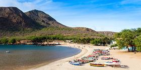 Tarrafal beach in Santiago island in Cap