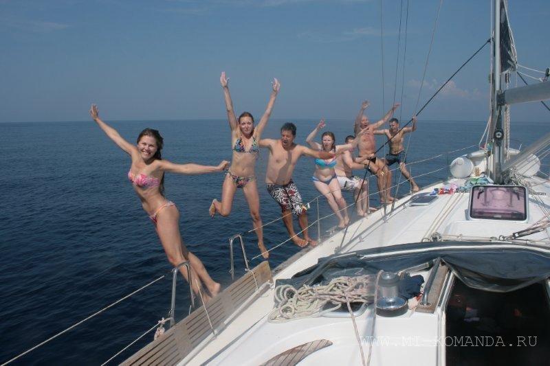 экстрим на парусной яхте (1)