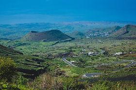 Curvy road to Pico do Fogo, volcano on t