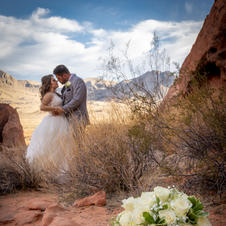 Bride And Groom At Valley Of Fire