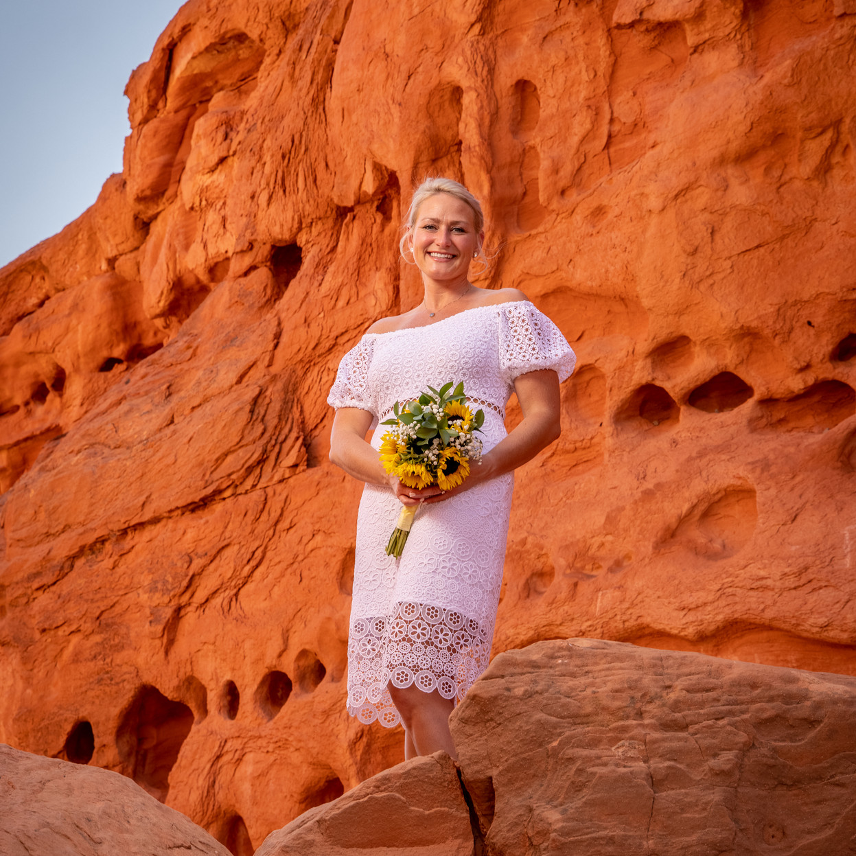 Valley of Fire Bridal Portrait