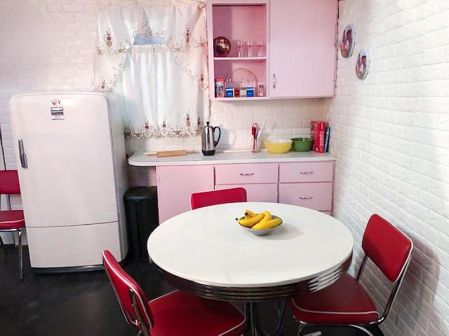Pink 1950's Kitchen