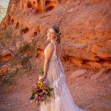 Bride Portrait At Valley Of Fire