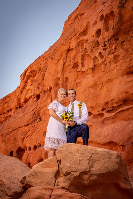 Bride And Groom At Valley Of Fire Wedding