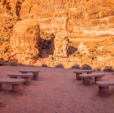 Valley Of Fire Wedding Area | Seating For 12