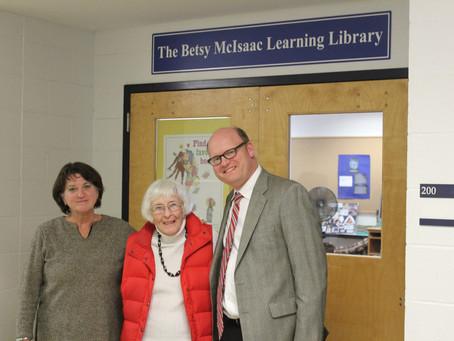 Betsy McIsaac Visits NHS