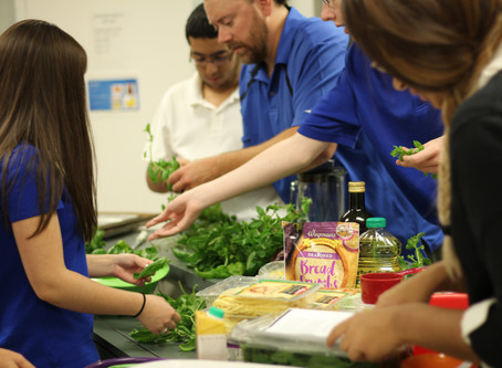 11th & 12th Graders Harvest Meal