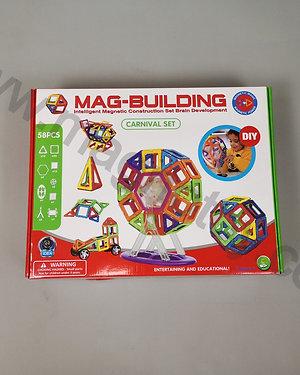Магнитный конструктор Mag-building 58 элементов