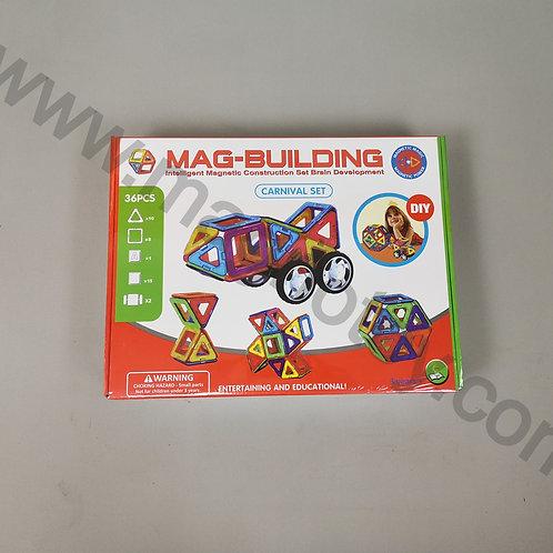 Магнитный конструктор Mag-building 36 элементов