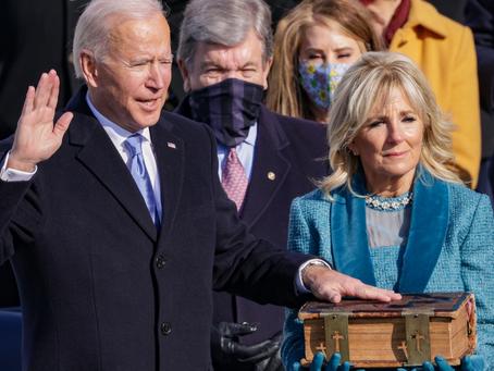 My remarks on President Joe Biden's inauguration
