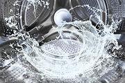 Water splash of the washing machine drum