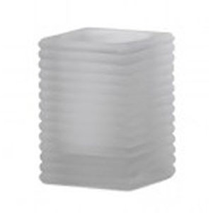Square Ribbed Glass melk