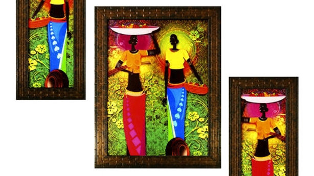 Spiritual Colourfull Wall Paintings (set of 3)