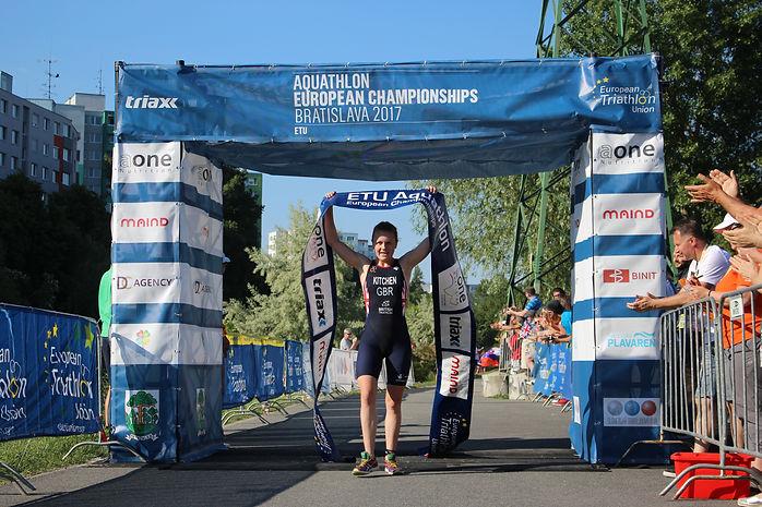 Hannah Kitchen European Aquathlon Championships