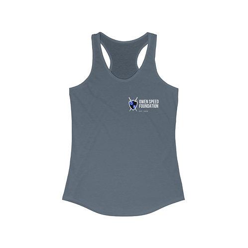 "Women's ""Owen Speed Foundation"" Reg & Round Logo Racerback Tank"