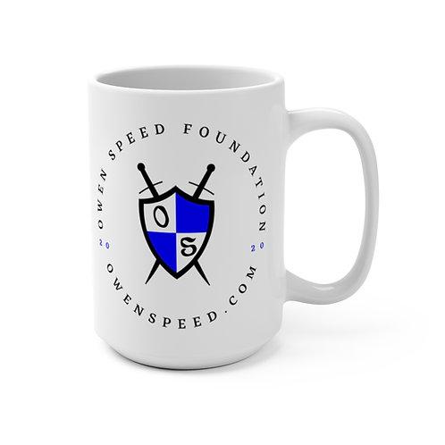 "White ""Owen Speed Foundation"" Mug 15oz"