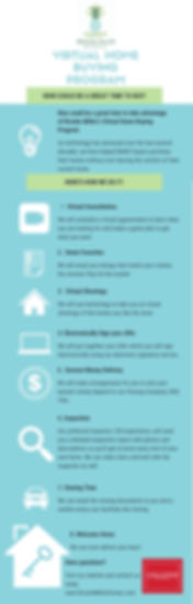 Virtual Home Buying Program Infographic.