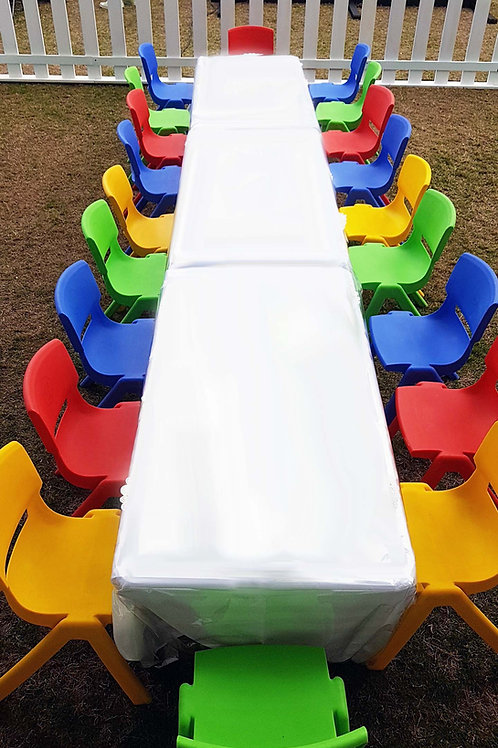 Tables and Chairs set for 20 kids for ages 8yrs and below