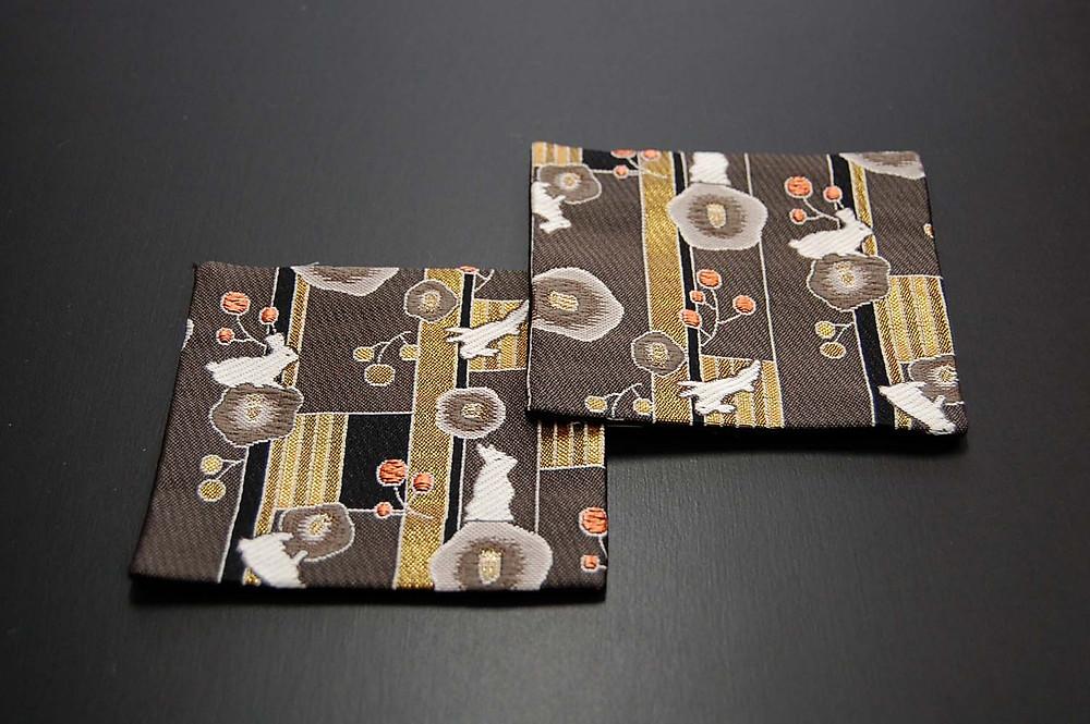 神泉堂金襴織コースター うさぎ