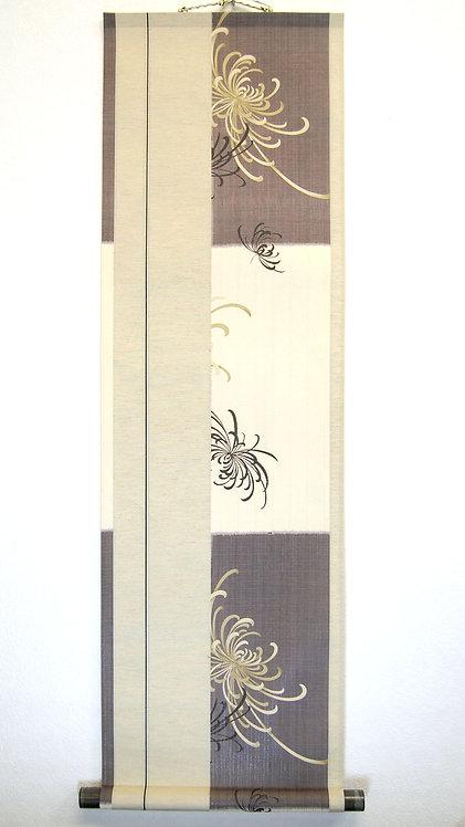 色紙掛軸 菊
