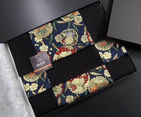 和風金襴織テーブルランナー 葵 150×30cm