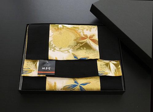 和風金襴織テーブルランナー 蝶 150×30cm