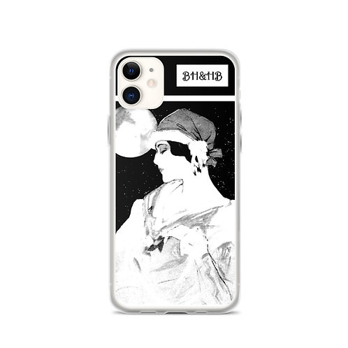 Witchy Gifts Midnight Moonlight Art iPhone Case Between Heaven & Hell