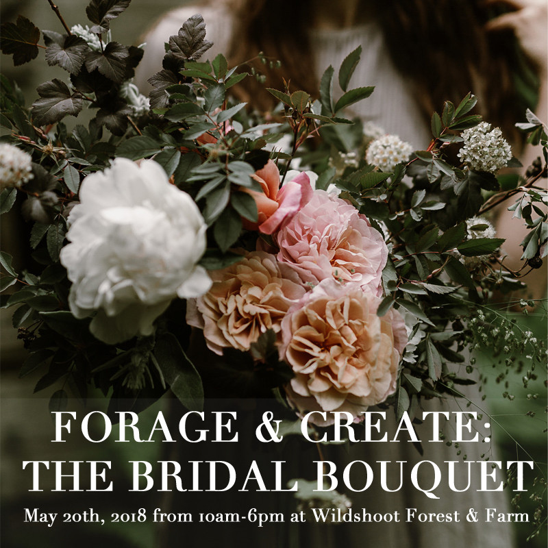 Seattle Floral Design Workshop Forage and Create The Bridal Bouquet