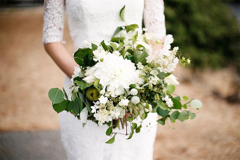 Admiral's House Wedding Botanique Flowers Bridal Bouquet