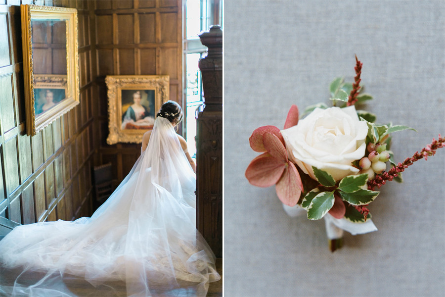 Romantic Pink Thornewood Castle Wedding Flowers