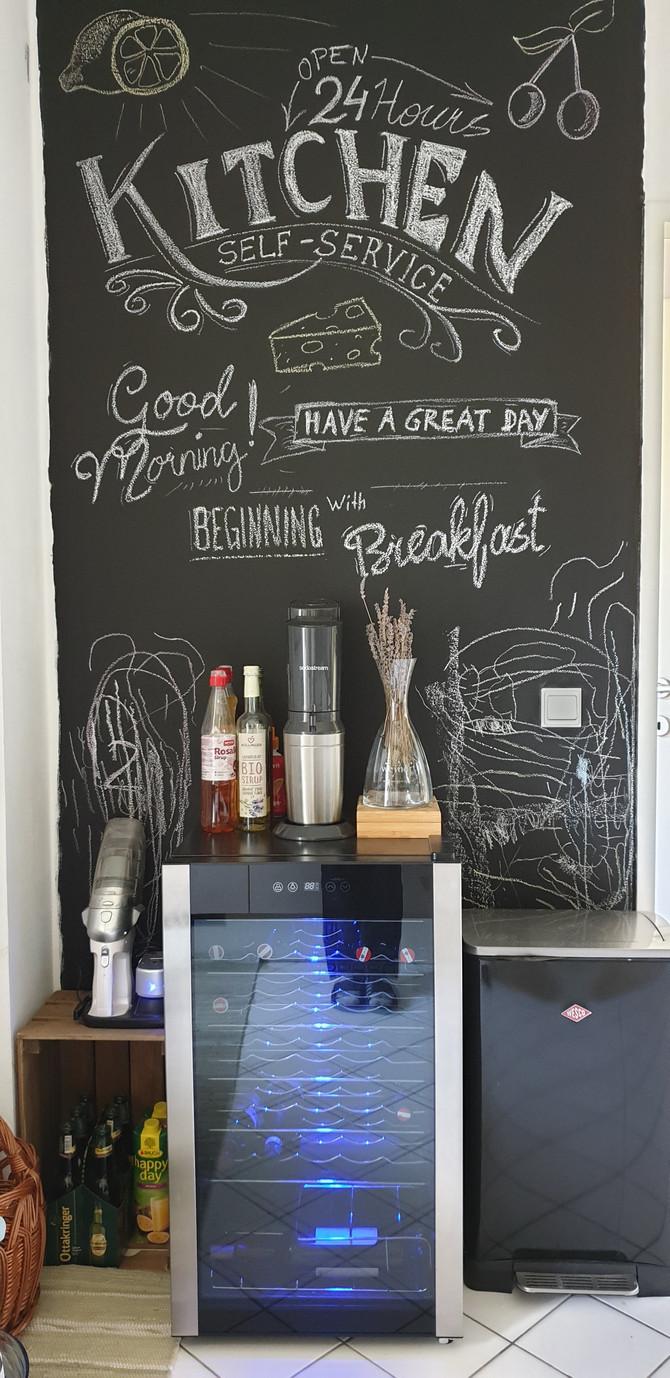 Tafelfarbe und Kreide --> Küche umgestaltet