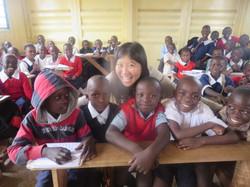 Kenya in school with Bright Eyes