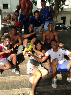 Cuba_ thank you for play Football with me
