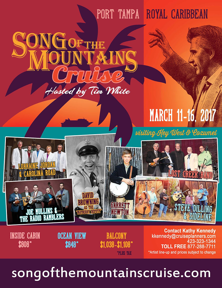 Mountain Music Cruise. February 22-27, 2016.