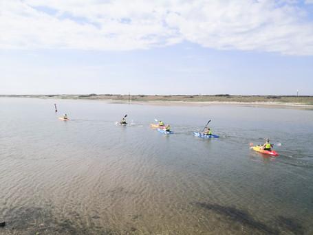 Kayaking Agger Harbor - SINE Ski Efterskole