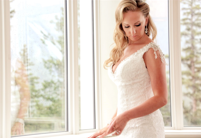 Bride at Banff Springs Hotel