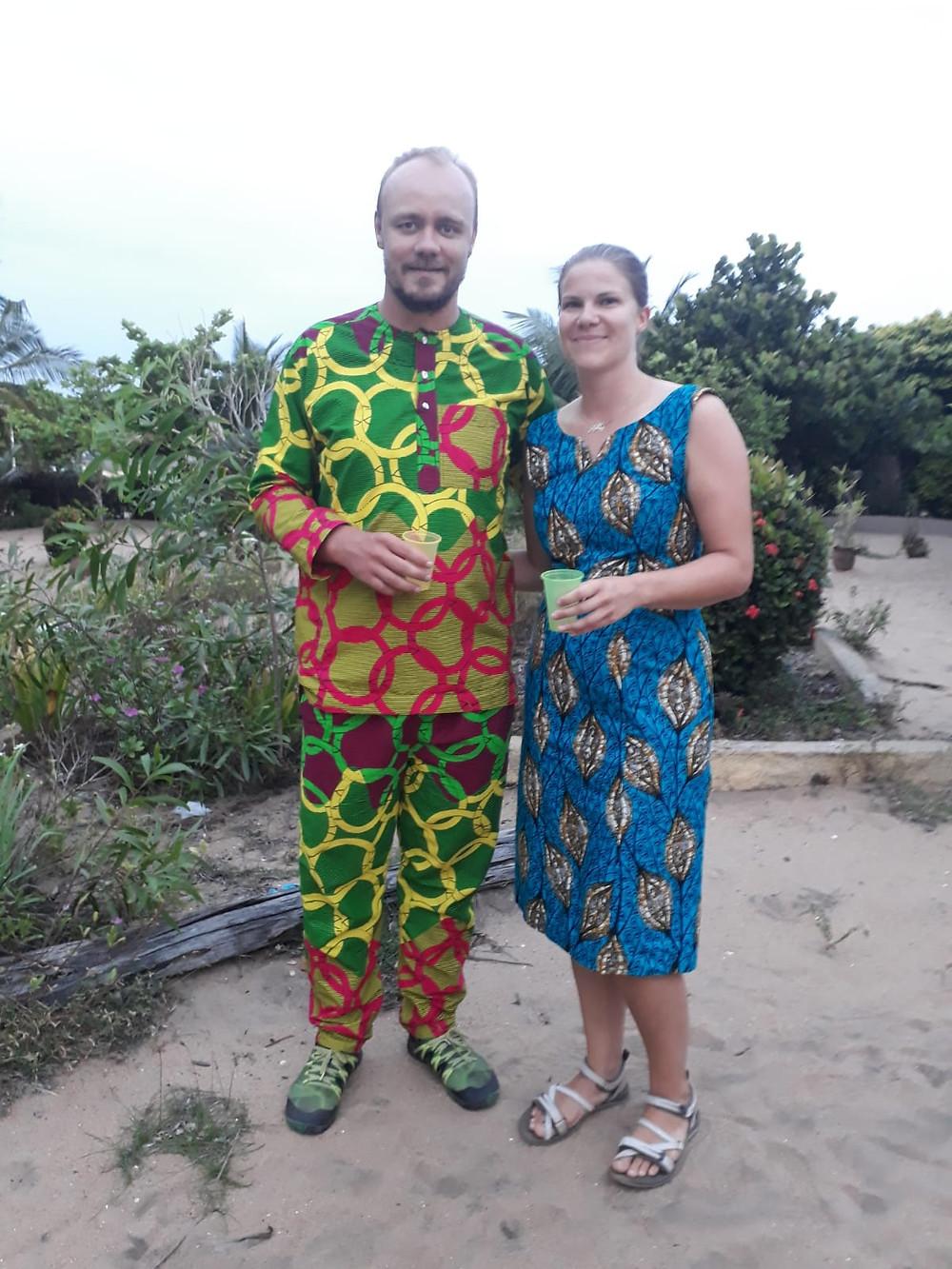 Afrikkalaistyyppiset vaatteet