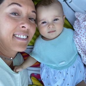5 meses de Caetana e de mãe Marta