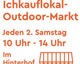 Unser Outdoormarkt im Hinterhof
