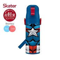 【Skater】不鏽鋼直飲保溫水壺470ml(美國隊長)1.jpg