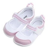 【布布童鞋】日本IFME夏日粉白透氣網布機能室內鞋1.jpg