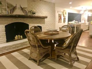 Carmel Dining Room + Fireplace