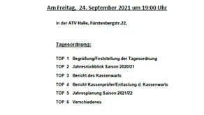 Einladung zur Mitgliederversammlung des FFH