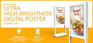 Freestanding Ultra High Brightness Email