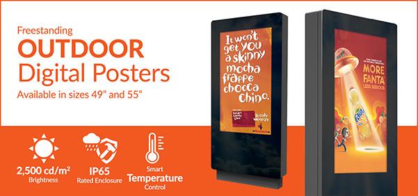 Outdoor Freestanding Digital Poster Emai