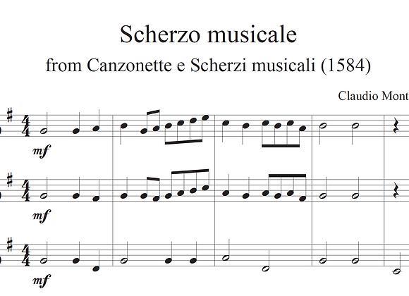 Scherzo musicale, from Canzonette e Scherzi musicali